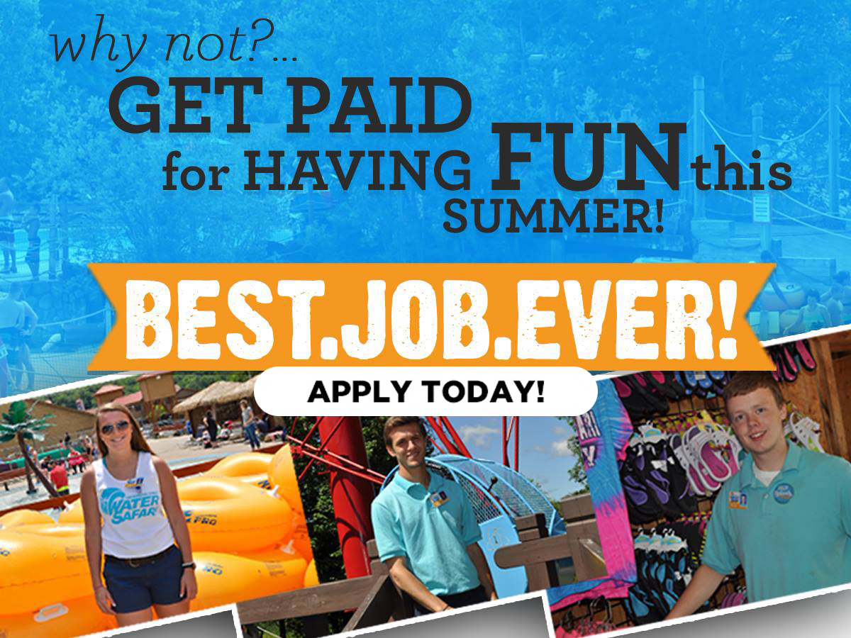 Best. Job. EVER! Apply Today!