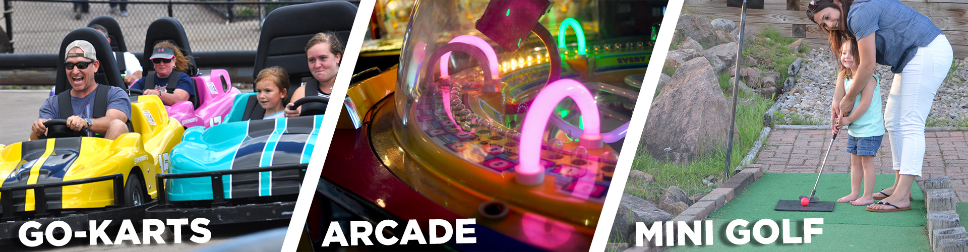 picture of go karts arcade and mili golf